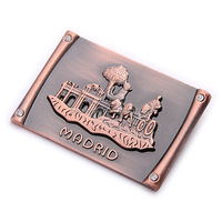 custom metal souvenir madrid fridge magnet