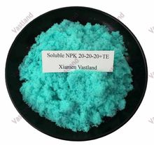 100% Water Soluble NPK foliar fertilizer 20-20-20+TE