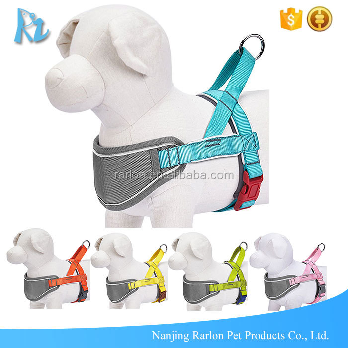Custom Reflective Strips No Pull Nylon Padded Training Dog Harness