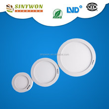 2017 Factory Price SMD 2835 6W True White Ultra Thin Small Round Led Flat Panel surface 12 watt led panel light