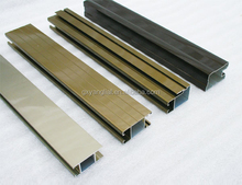 extrusion Aluminum sliding windows profile for office partition