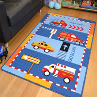 Latex backing washable rug