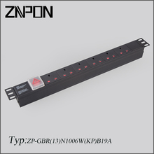 UK 19 Inch PDU with Switch