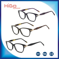 Eyewear latest fashion acetate eyeglass frame models, high quality optical frame