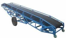 Mobile Inclination Wheat Rubber belt conveyor with hopper