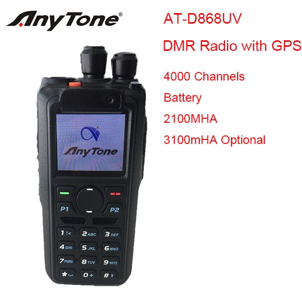 2017 New Anytone AT-D868UV DMR dual band two way radio with GPS