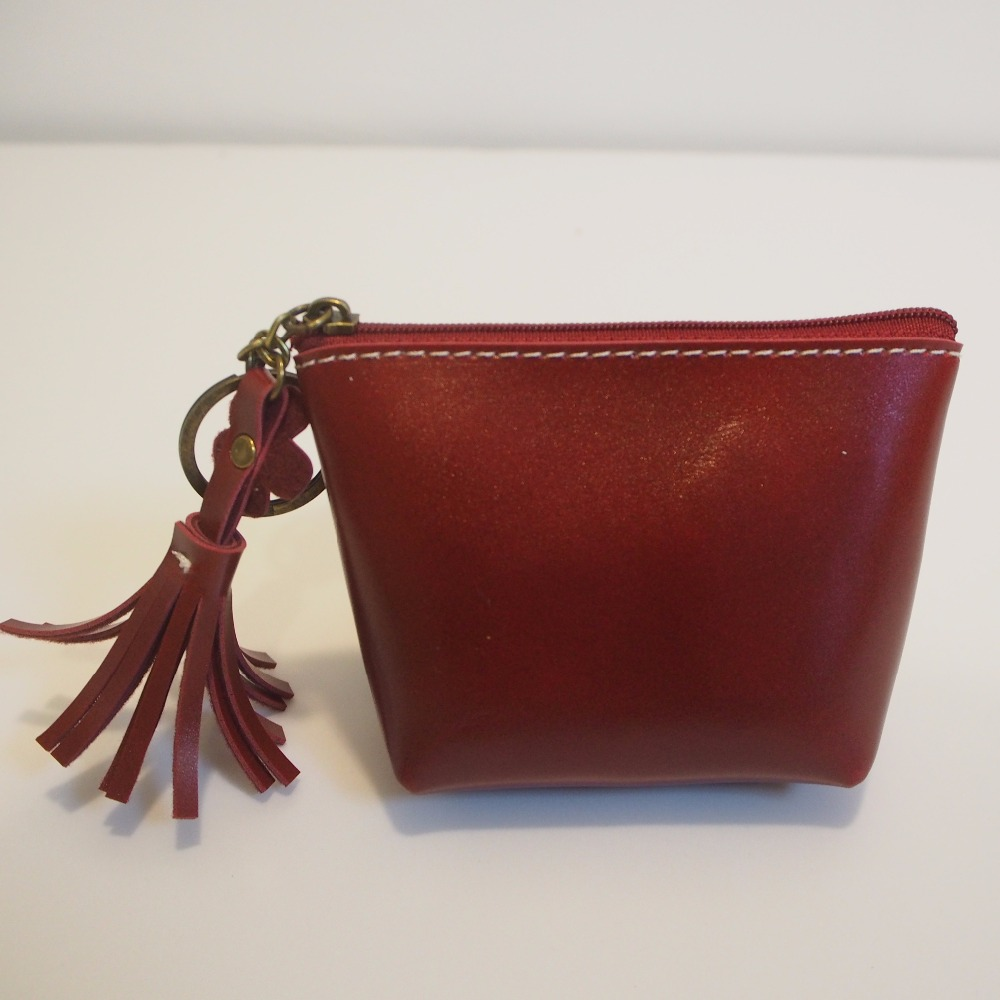vintage elegant ladies mini PU leather change purse
