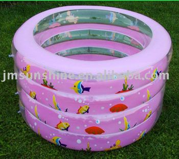 Ring inflatable pool children's cartoon