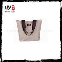 Customized grey cotton pouch bag for wholesales