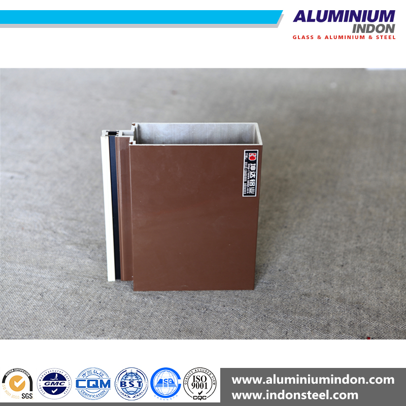 contemporary aluminium windows Electrophoresis wood aluminum extruded profiles for building materials