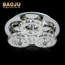 Made in China lamparas de techo oval silver crystal home decoration ceiling lights