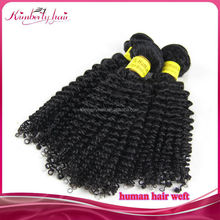 Hot Selling China Supplier Kinky Curl Hair Weft virgin brazilian and Chinese hair