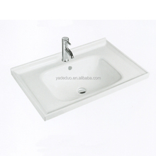 Hot sale ceramic toilet sink with vanity top porcelain bathroom cabinets middle edge sink sink for bar counter table top
