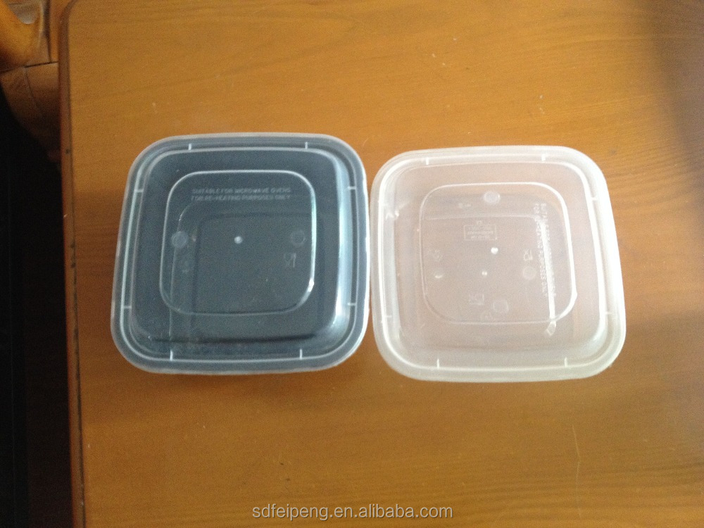 650ml Square and Transparent Accept Custom Order Disposable Feature Plastic Food Lunch Bento box for take away food