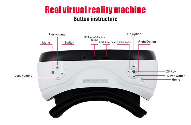Tudo em um Óculos vr VR Quad core WIFI 3D de realidade virtual de fone de ouvido 1080 P 110 FOV