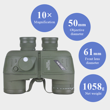 Professional Wide Angle Powerful Green optical coated Hunting Binoculars 10x50 with BAK4 Prism