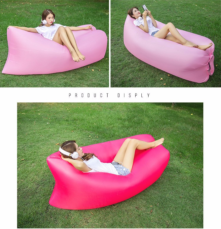 inflatable beach air sofa air bag sofa for outdoor camping