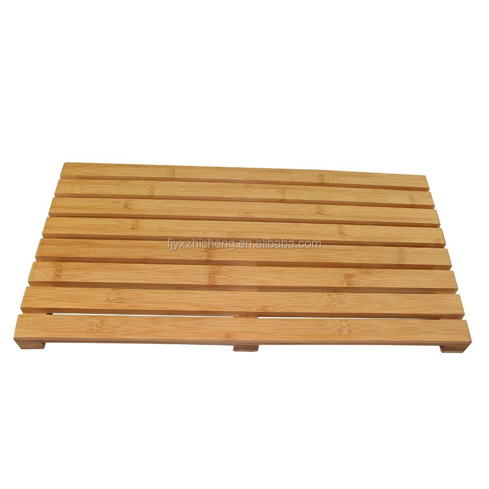 100% Natural Bamboo Deluxe Shower Floor and Bath Mat