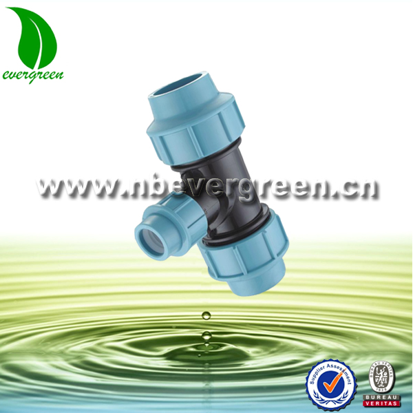 PP agricultural irrigation 45 degree pipe fitting lateral tee
