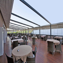 Aluminium folding pergola retractable roof awning systems