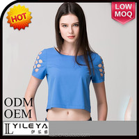 short sleeve slim short sleeve crop tops wholesale women