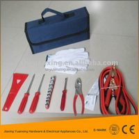 car emergency tool kit,auto roadside safety tool in foldable bag