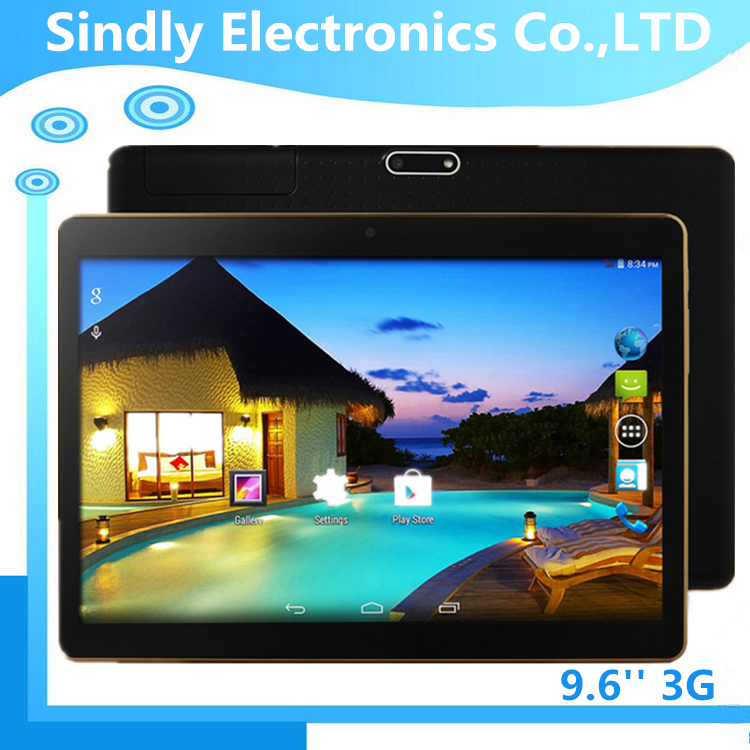 "excellent MTK6582 Quad Core 9.6"" IPS 1280*800 Screen Android 4.4.2 3G <strong>Tablet</strong> 1GB/16GB Tablette Dual SIM Bluetooth GPS <strong>Tablet</strong> PC"