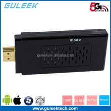 EZCAST 5G:2015 Linux RTD1185 CPU 2gb new miracast 1gb Nand cheap ezcast MIPS 500MHz frequency Wireless airplay TV dongle