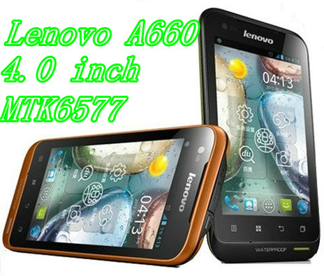 Wholesale new hot lenovo phone 4.0'' waterproof lenovo A660 Android phone MTK6577