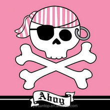 Pirate Party Pink/Red Luncheon Beverage Napkins