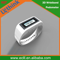 New arrival smart 3D fitness tracker pedometer bracelet wristwatches