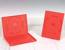 14mm Frosty Single Disc Plastic Red Color DVD Case