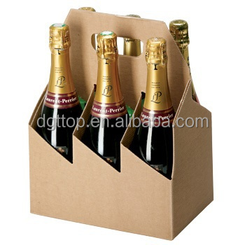 cheap corrugate cardboard 6 pack bottles carrier