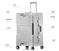 ABS Travel Trolley Luggage Suitcase Carry