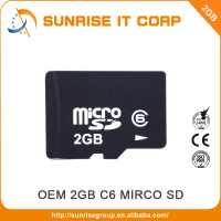 Class6 OEM taiwan sd micro memory card 2gb low prices