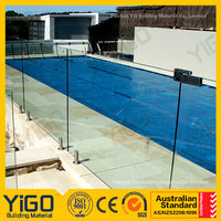 invisible swimming pool glass fence&pool fence options