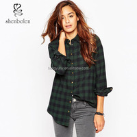 Fashion new arrive ladies classical flannel woman shirt