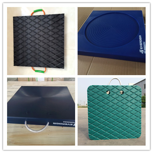 Black and square outrigger pad HDPE UHMWPE plastic crane use outrigger pads