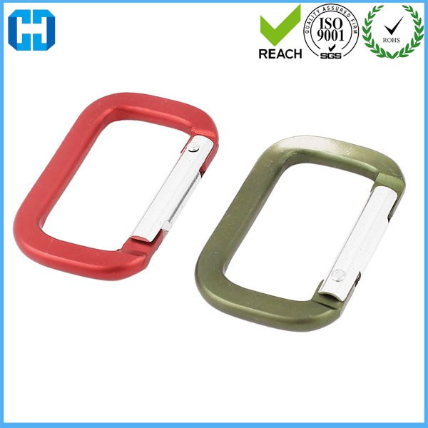 Wholesale Rectangle Shape Aluminum Carabiner With Wire Gate