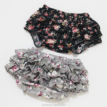 Wholesale Baby Girls Ruffle Floral Diaper Covers Cotton Bloomers