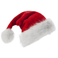 2018 fancy high quality plush santa christams hat