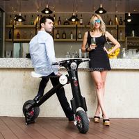 ET luxury bike electric folding bike white 350W 45km/h brushless motor for adults and students