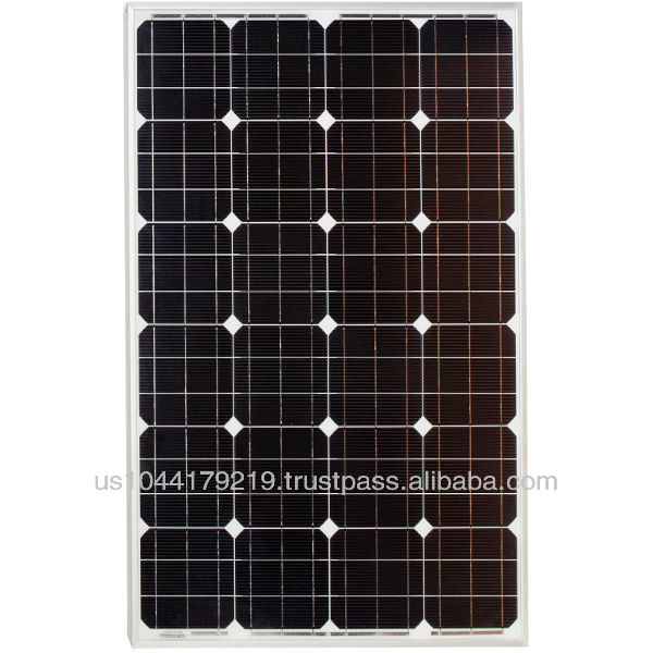 Grape Solar 105 Watt Monocrystalline PV Solar Panel for RV's, Boats and 12 Volt Systems