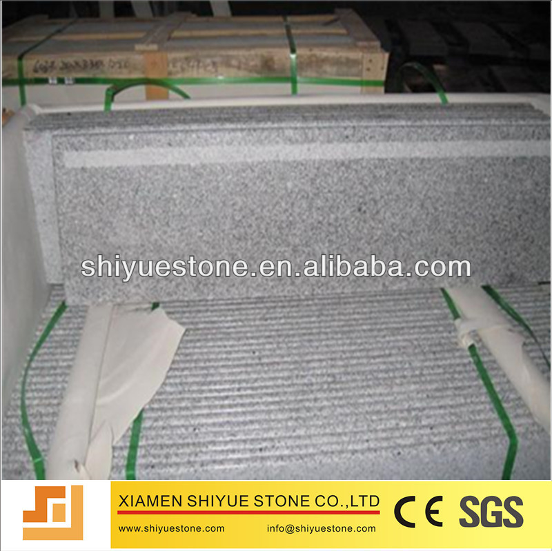 Chinese Natural Polished G603 Granite Stairs