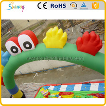 Cute cheap colorful inflatable arch main door design