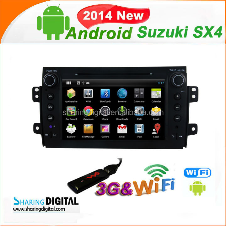 "NEW Good Quality 8"" Touch Screen CAR PURE ANDROID 4.2 DVD for Suzuki SX4 2006-2012"