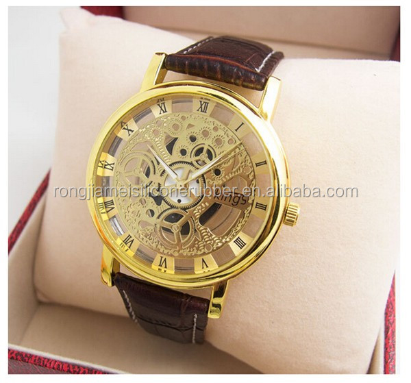 New Custom Hollow Watch Leather Band Beautiful Lady Wrist Watches