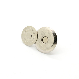 Dish shape 18mm silver magnetic button for clothing