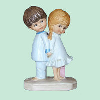 Hotsale Resin Baby Couple Figurine Wedding