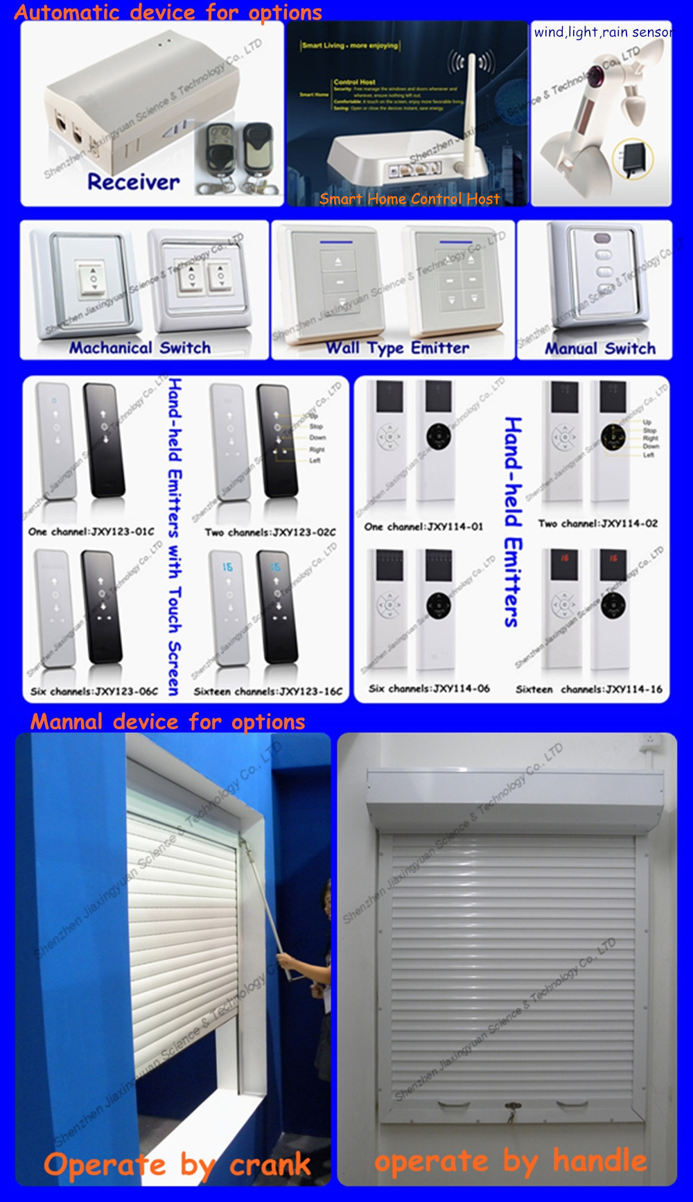 Automatic Residential Aluminum Security Window Rolling Shutters